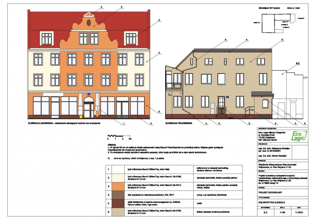 Elewacje - Wejherowo, Plac Wejhera 2 i 2A 2